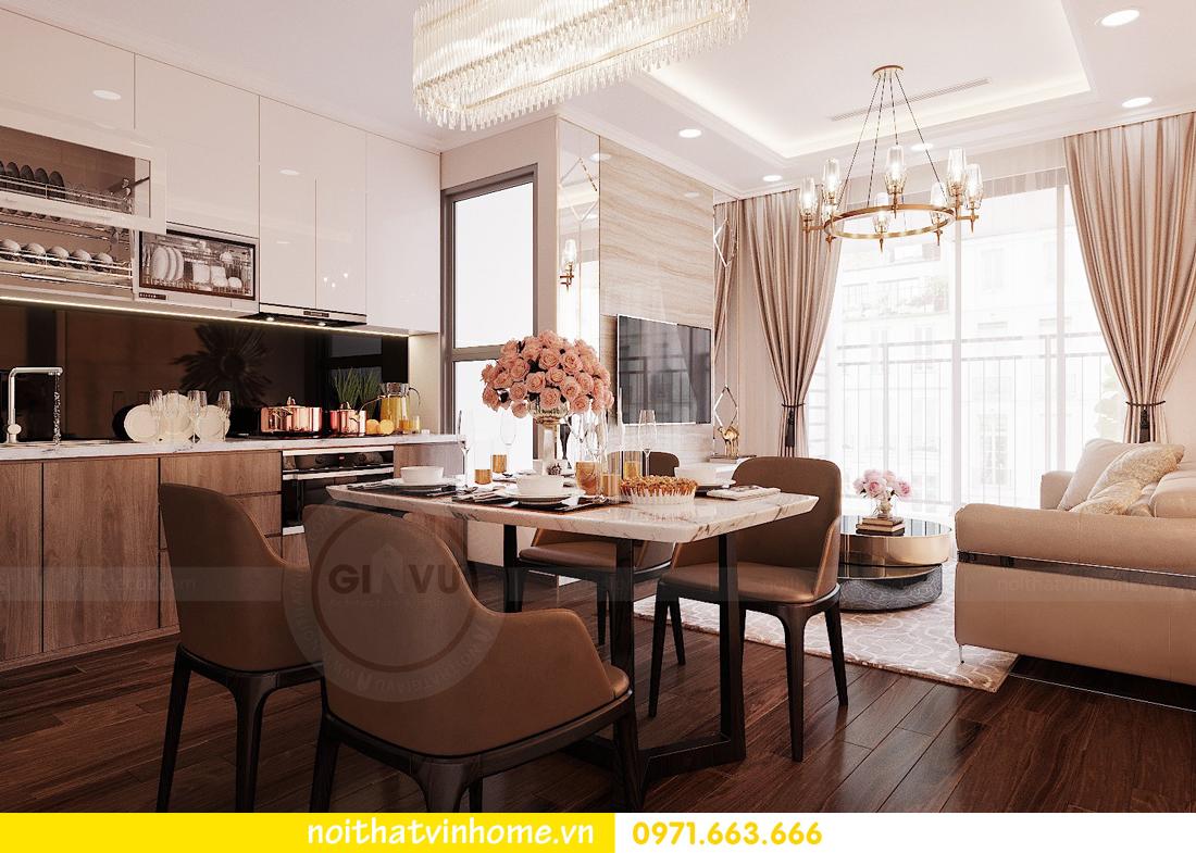 thiết kế nội thất chung cư Vinhomes Green Bay căn G210 nhà chị Phương 03