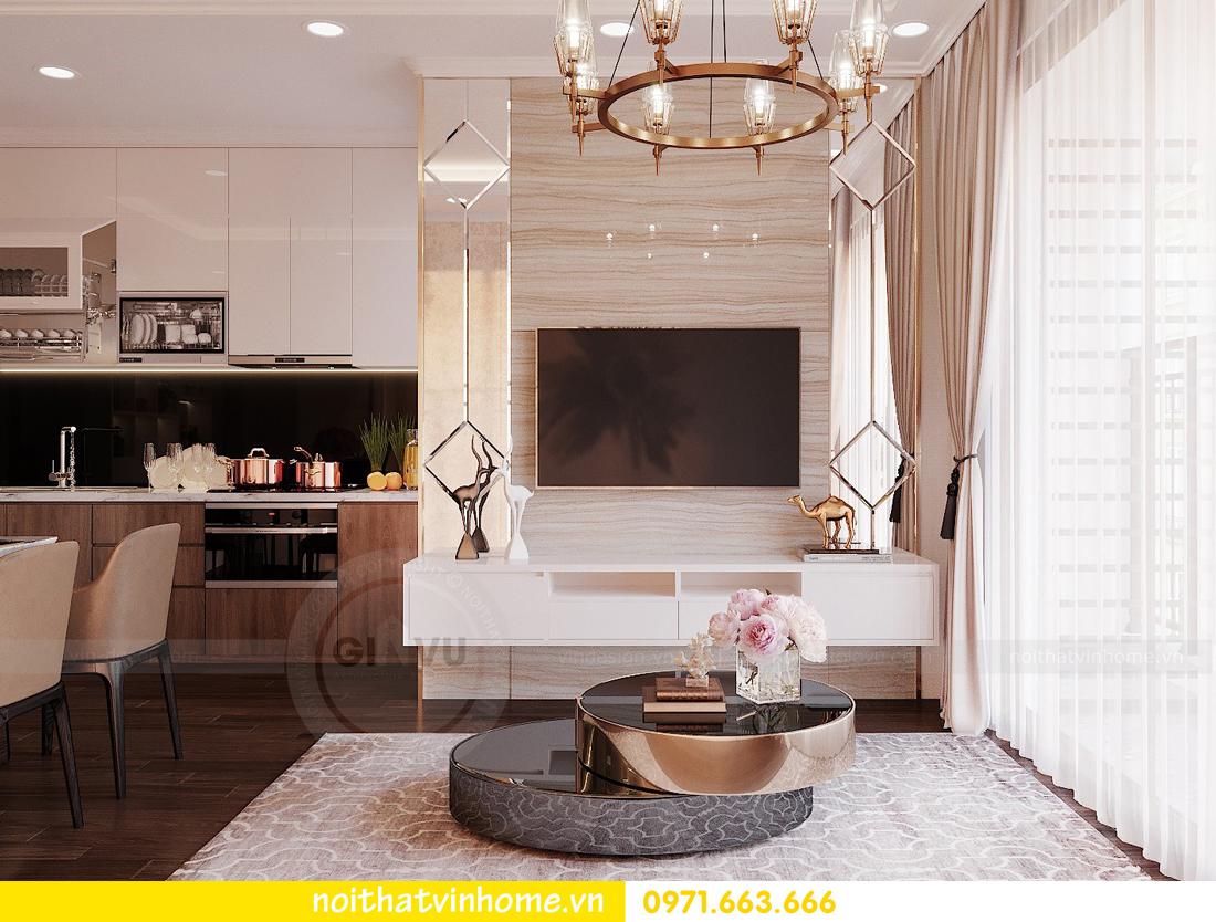 thiết kế nội thất chung cư Vinhomes Green Bay căn G210 nhà chị Phương 07
