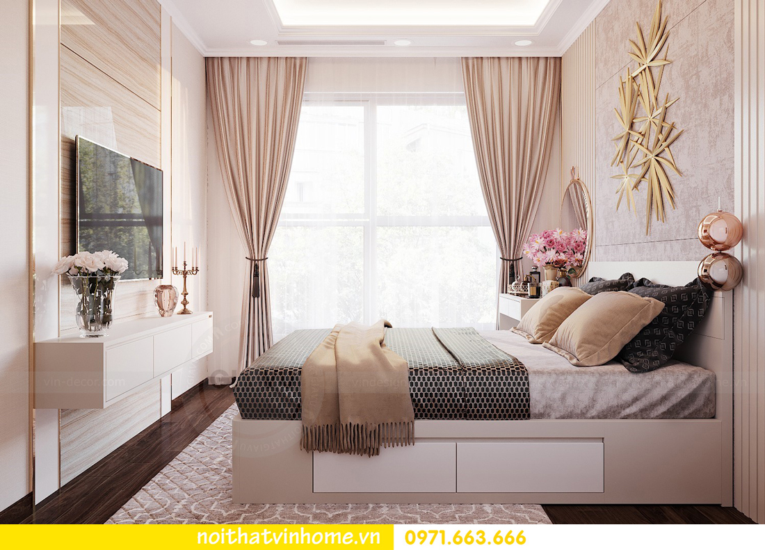 thiết kế nội thất chung cư Vinhomes Green Bay căn G210 nhà chị Phương 09