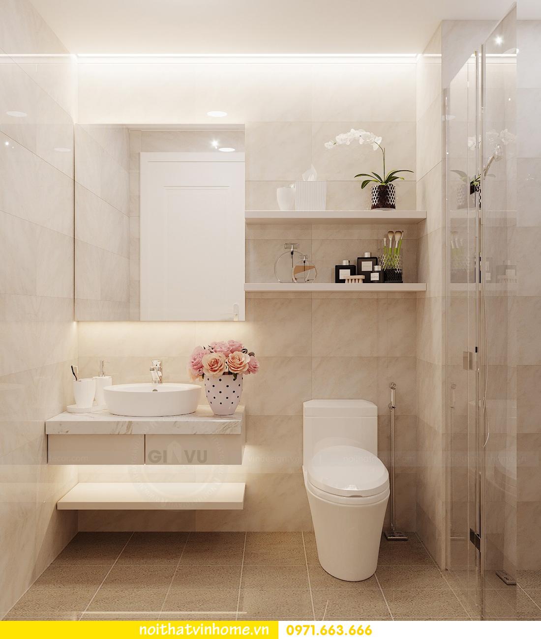 thiết kế nội thất chung cư Vinhomes Green Bay căn G210 nhà chị Phương 12