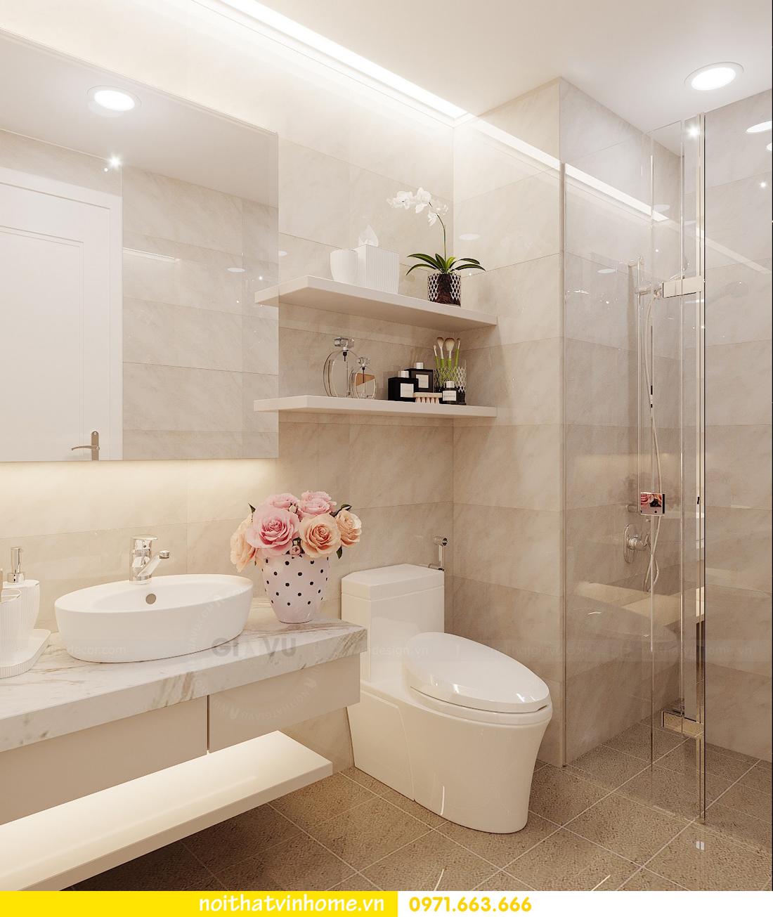 thiết kế nội thất chung cư Vinhomes Green Bay căn G210 nhà chị Phương 13