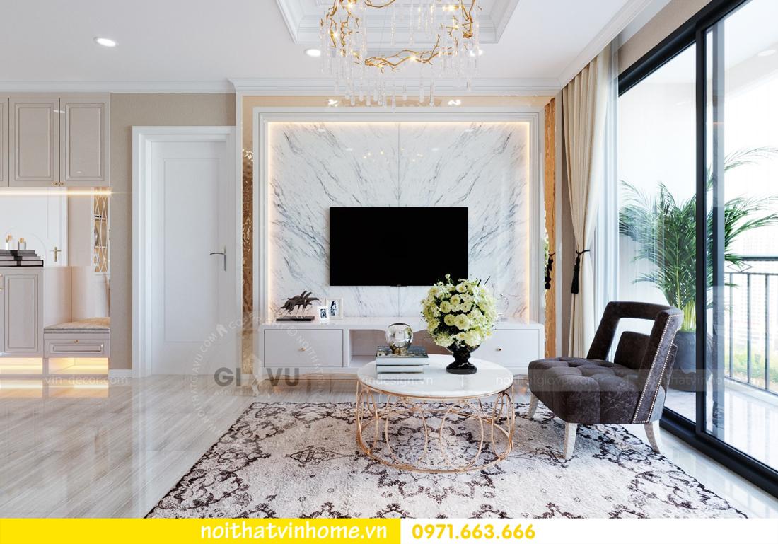 thiết kế nội thất tại Vinhomes D Capitale tòa C6 căn 10 nhà anh Vinh 06