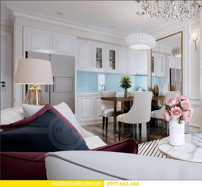 thiết kế nội thất Vinhomes DCapitale căn 01 tòa C1 chị Hiên 05