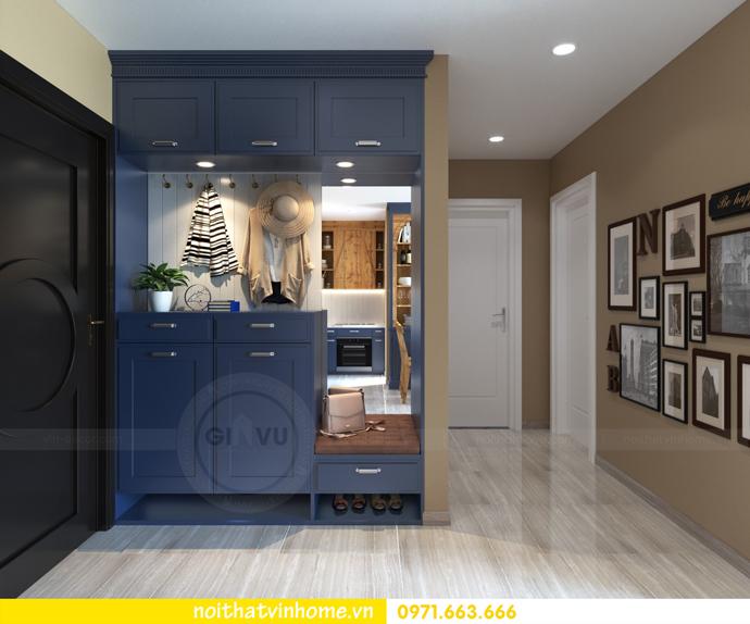 thiết kế nội thất Vintage tại chung cư Vinhomes D Capitale nhà anh Tín 01