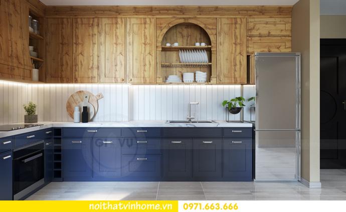 thiết kế nội thất Vintage tại chung cư Vinhomes D Capitale nhà anh Tín 02