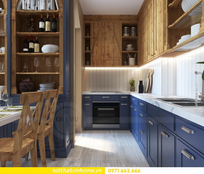 thiết kế nội thất Vintage tại chung cư Vinhomes D Capitale nhà anh Tín 03