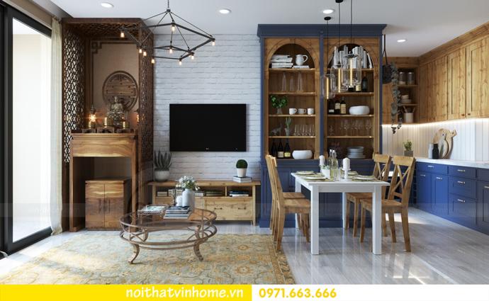 thiết kế nội thất Vintage tại chung cư Vinhomes D Capitale nhà anh Tín 04
