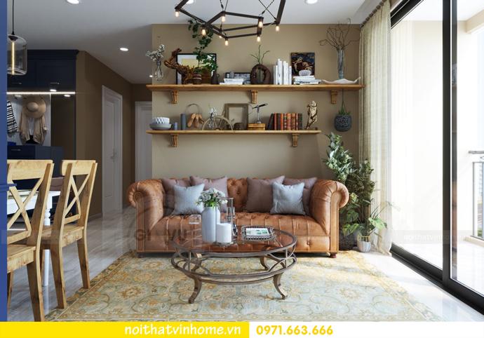 thiết kế nội thất Vintage tại chung cư Vinhomes D Capitale nhà anh Tín 05