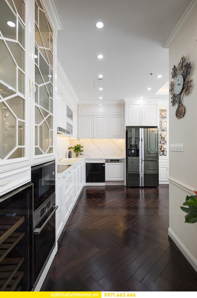 hoàn thiện nội thất chung cư tân cổ điển Vinhomes Green Bay nhà chị Lan 10