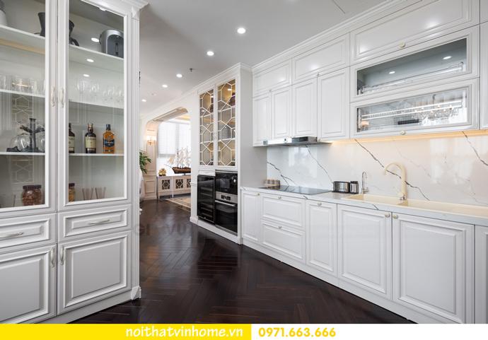 hoàn thiện nội thất chung cư tân cổ điển Vinhomes Green Bay nhà chị Lan 12