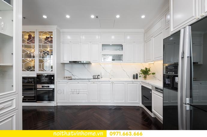hoàn thiện nội thất chung cư tân cổ điển Vinhomes Green Bay nhà chị Lan 13