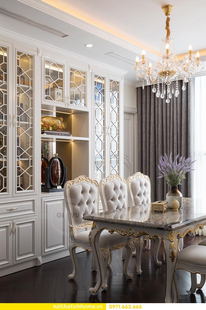 hoàn thiện nội thất chung cư tân cổ điển Vinhomes Green Bay nhà chị Lan 15