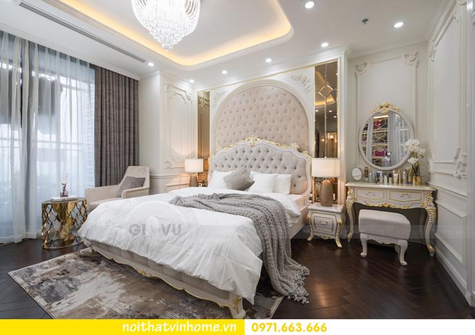 hoàn thiện nội thất chung cư tân cổ điển Vinhomes Green Bay nhà chị Lan 17