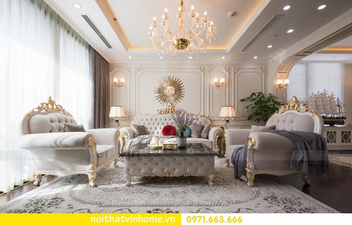 hoàn thiện nội thất chung cư tân cổ điển Vinhomes Green Bay nhà chị Lan 5