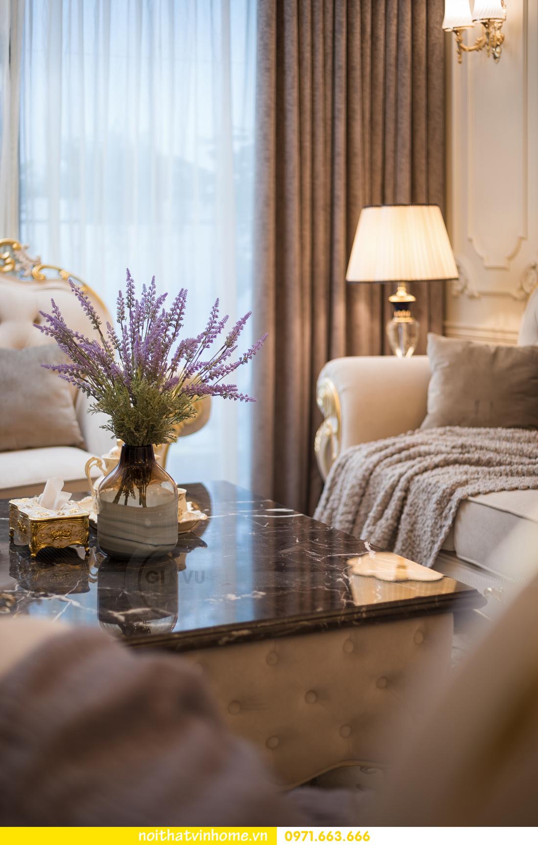 hoàn thiện nội thất chung cư tân cổ điển Vinhomes Green Bay nhà chị Lan 7