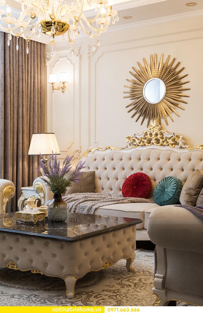 hoàn thiện nội thất chung cư tân cổ điển Vinhomes Green Bay nhà chị Lan 8
