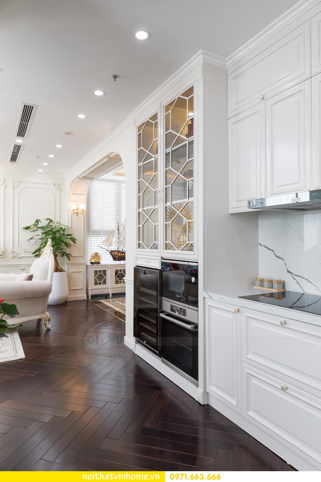 hoàn thiện nội thất chung cư tân cổ điển Vinhomes Green Bay nhà chị Lan 9