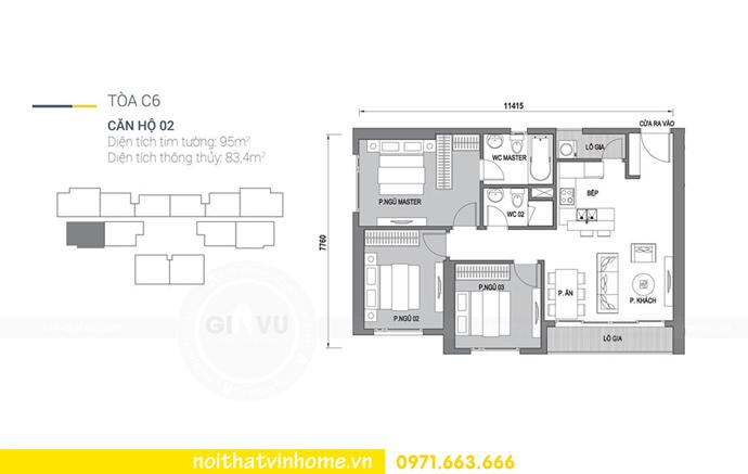 mặt bằng căn hộ C602 Vinhomes D Capitale Trần Duy Hưng