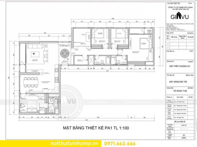 mặt bằng căn hộ đập thông 06 08 tòa G1 Vinhomes Green Bay nhà chị Lan
