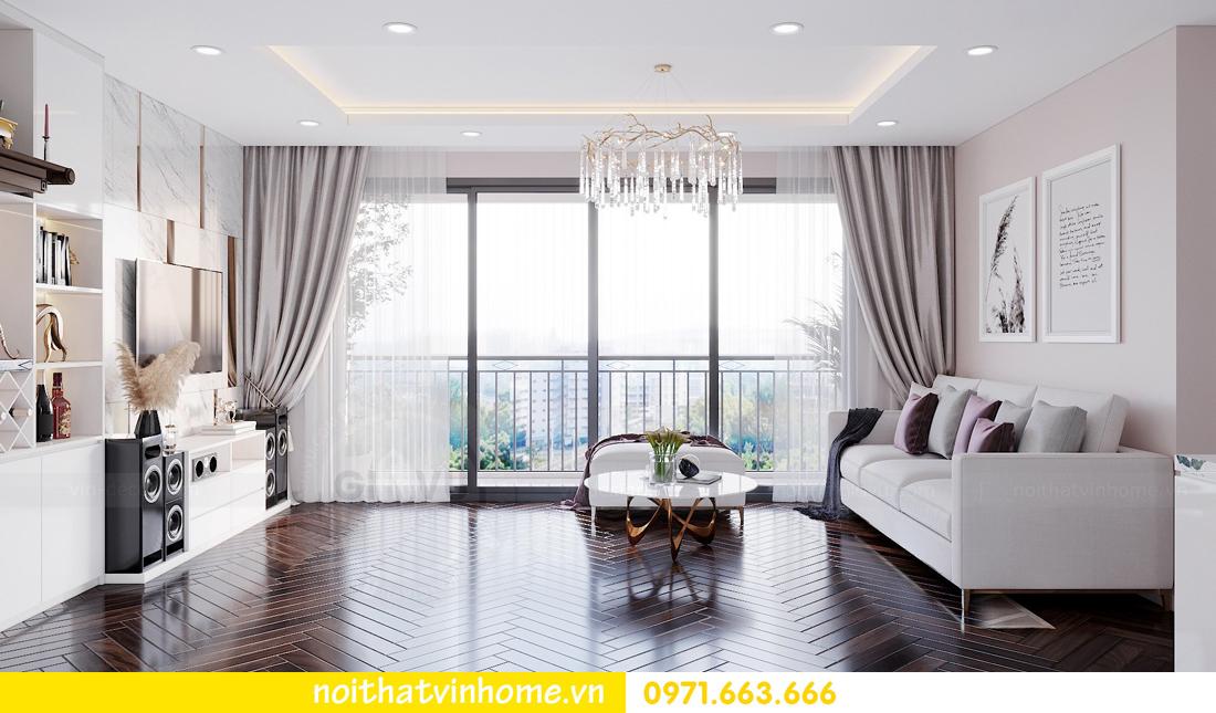 nội thất chung cư cao cấp hiện đại C6 căn 08 Vinhomes D Capitale nhà anh Toản 04