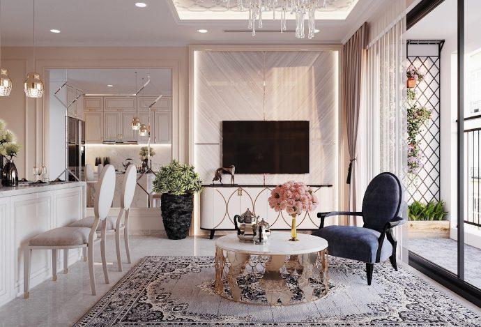 nội thất chung cư DCapitale tòa C3 căn 09 nhà anh Luân