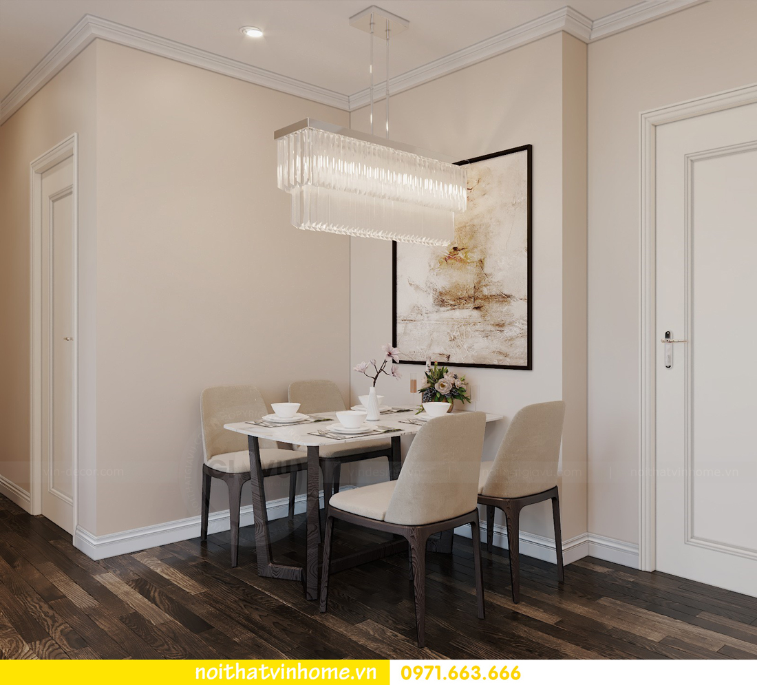 nội thất chung cư hiện đại Vinhomes D Capitale tòa C1 căn 09 chị Huyền 2