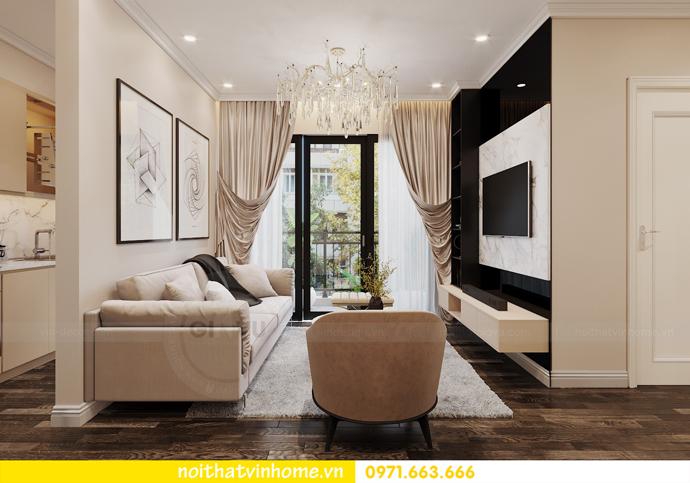 nội thất chung cư hiện đại Vinhomes D Capitale tòa C1 căn 09 chị Huyền 3