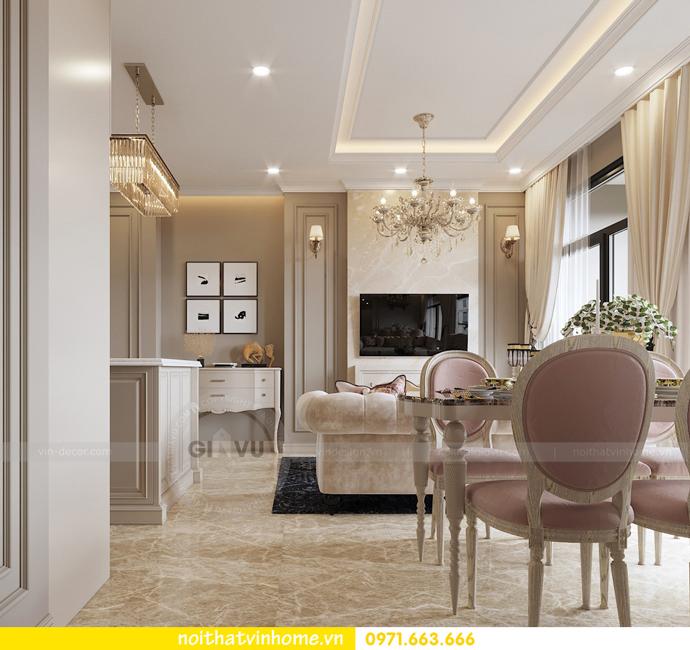 nội thất chung cư tân cổ điển tại Vinhomes D Capitale nhà anh Tân 2
