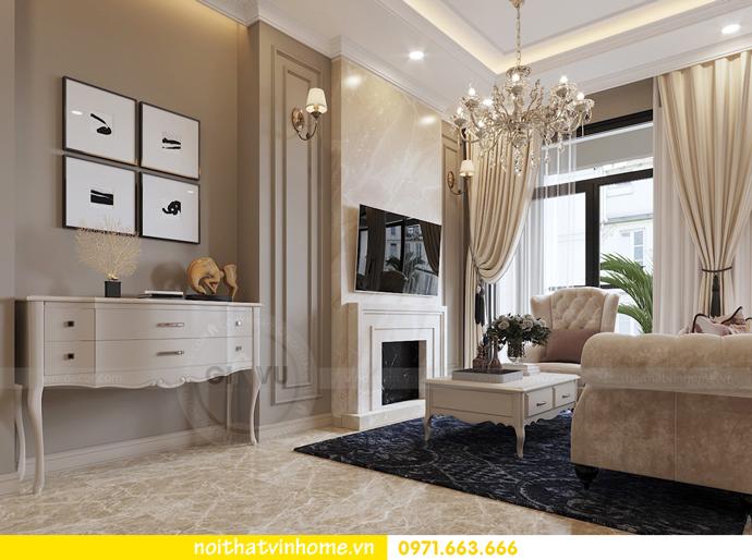 nội thất chung cư tân cổ điển tại Vinhomes D Capitale nhà anh Tân 3