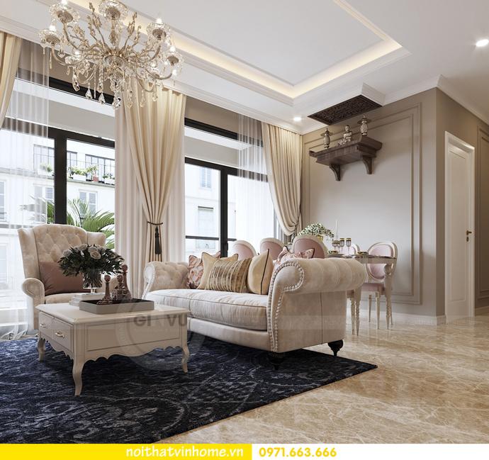 nội thất chung cư tân cổ điển tại Vinhomes D Capitale nhà anh Tân 4