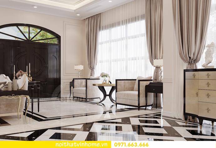 thiết kế nội thất biệt thự Paris Vinhomes Imperia Hải Phòng chị Thu 1