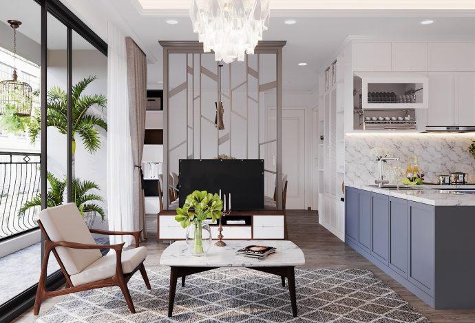 thiết kế nội thất hiện đjai căn hộ 3 phòng ngủ tại Vinhomes D Capitale