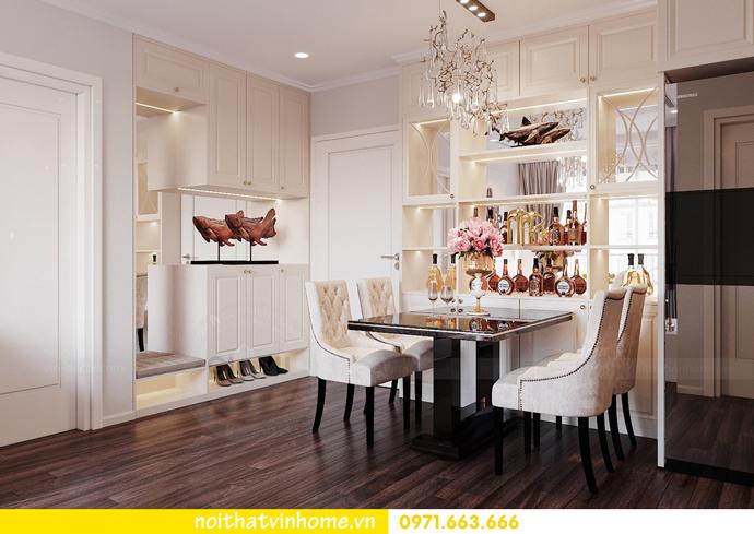 thiết kế nội thất hiện đại tại Vinhomes D Capitale gia đình chị Lệ 01
