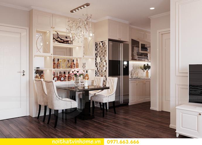 thiết kế nội thất hiện đại tại Vinhomes D Capitale gia đình chị Lệ 02