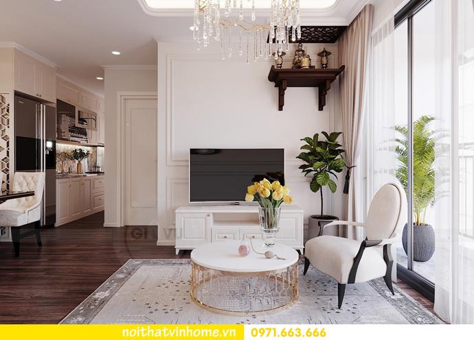 thiết kế nội thất hiện đại tại Vinhomes D Capitale gia đình chị Lệ 05