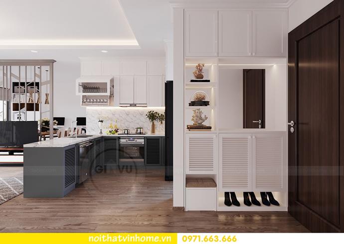 thiết kế nội thất hiện đại tại Vinhomes D Capitale tòa C1 căn 03 nhà cô Lan 1