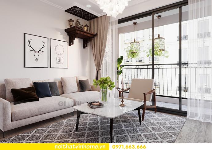thiết kế nội thất hiện đại tại Vinhomes D Capitale tòa C1 căn 03 nhà cô Lan 2