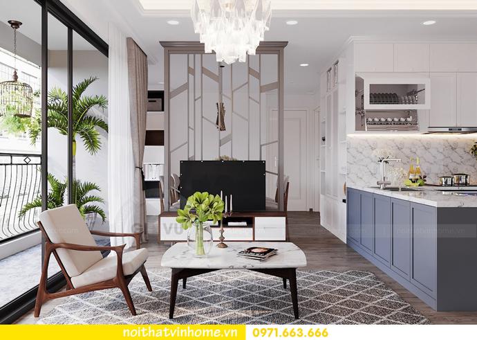 thiết kế nội thất hiện đại tại Vinhomes D Capitale tòa C1 căn 03 nhà cô Lan 3