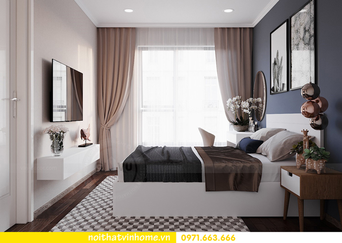 thiết kế nội thất hiện đại tại Vinhomes D Capitale tòa C1 căn 03 nhà cô Lan 7