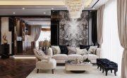 mẫu nội thất chung cư 130m2 đẹp sang trọng hiện đại