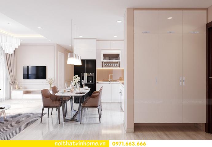 thiết kế nội thất căn hộ hiện đại tại Vinhomes D Capitale C303 chị Minh 1