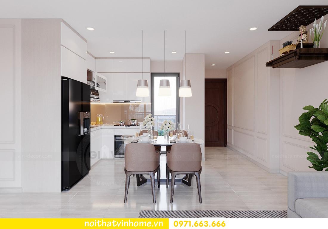 thiết kế nội thất căn hộ hiện đại tại Vinhomes D Capitale C303 chị Minh 2