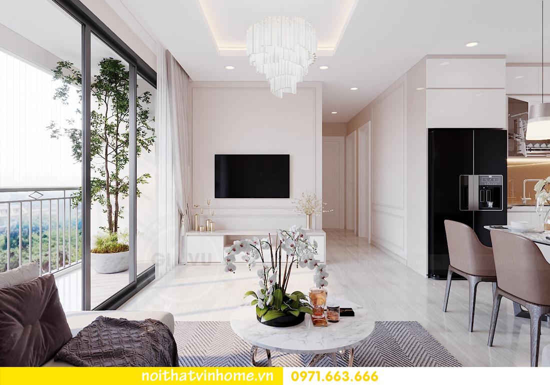 thiết kế nội thất căn hộ hiện đại tại Vinhomes D Capitale C303 chị Minh 4