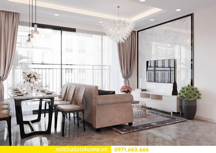 thiết kế nội thất căn hộ Vinhomes D Capitale tòa C6 CH09 nhà anh Kim 02
