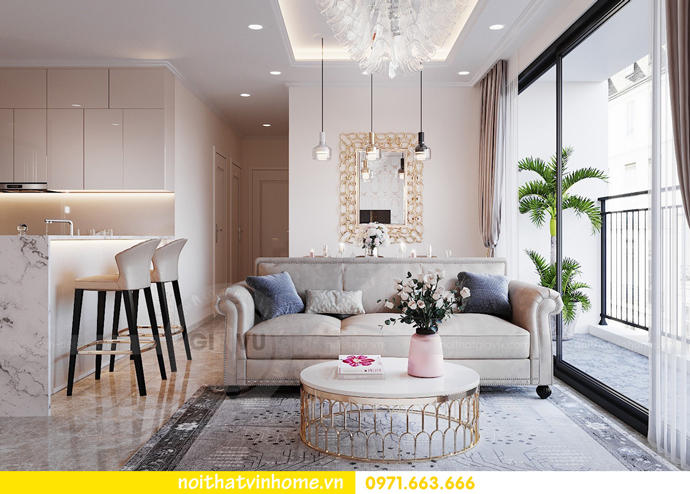 thiết kế nội thất căn hộ Vinhomes D Capitale tòa C6 CH09 nhà anh Kim 03