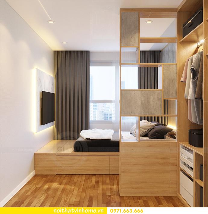 thiết kế nội thất chung cư 60m2 D Capitale nhà chị Hà 9