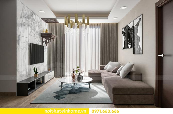 thiết kế nội thất tại chung cư Sky Lake tòa S1 căn 01 nhà chị Vân 3