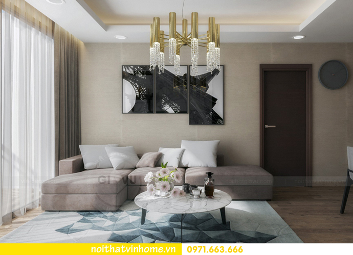 thiết kế nội thất tại chung cư Sky Lake tòa S1 căn 01 nhà chị Vân 4