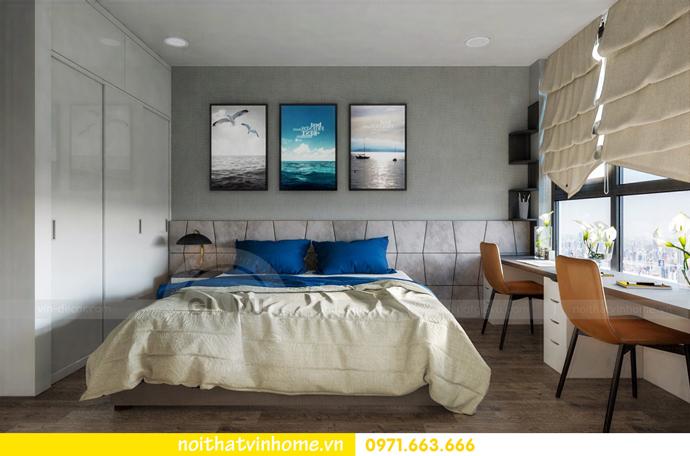 thiết kế nội thất tại chung cư Sky Lake tòa S1 căn 01 nhà chị Vân 9