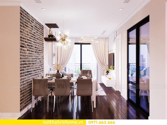 thiết kế thi công nội thất chung cư Sunshine Riverside nhà chị Hà 2